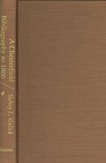 A Chesterfield Bibliography to 1800