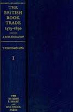 The British Book Trade 1475–1890: A Bibliography